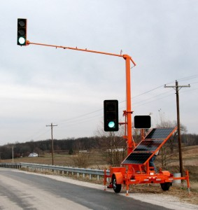 sx7500 portable traffic signal in use